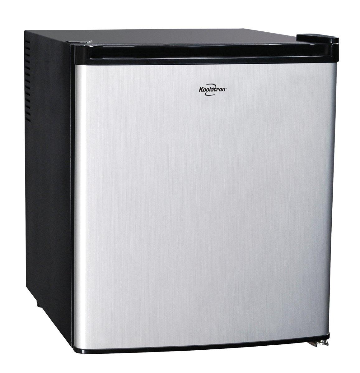 Koolatron KCR40B AC/DC Hybrid Heat Pipe Refrigerator, 1.7 cu. ft, Silver