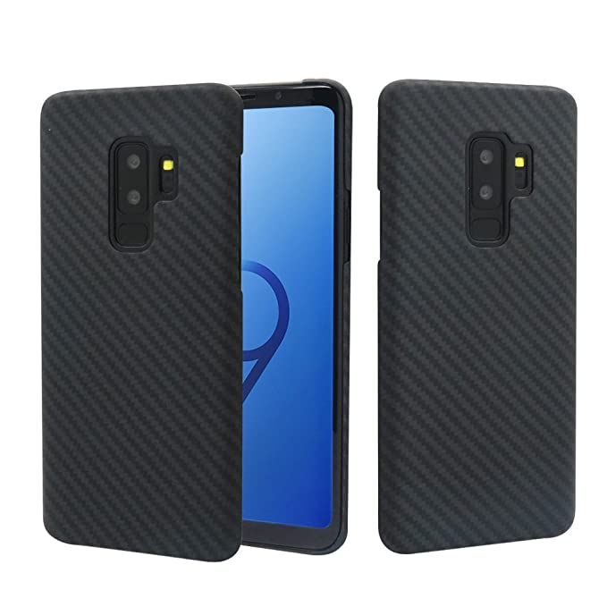 best service 2e6fc 369f1 Galaxy S9 Plus Case, MIGOOZI Ultra Thin [0.7mm] Real Aramid Fiber [Real  Body Armor Material] Carbon Fiber Pattern Protective Case Cover for Samsung  ...