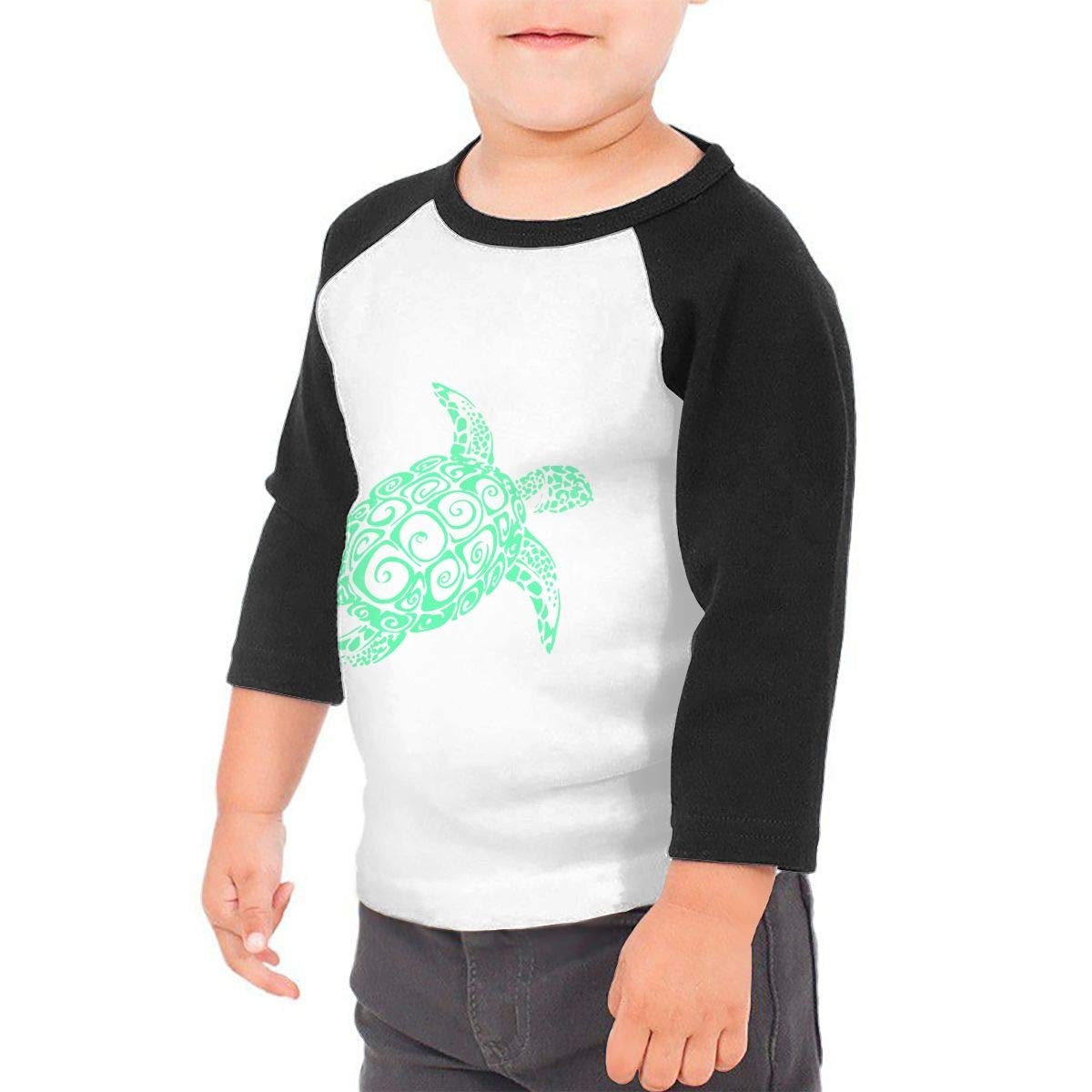 Just A Girl Who Loves Sea Turtles Unisex Toddler Baseball Jersey Contrast 3//4 Sleeves Tee