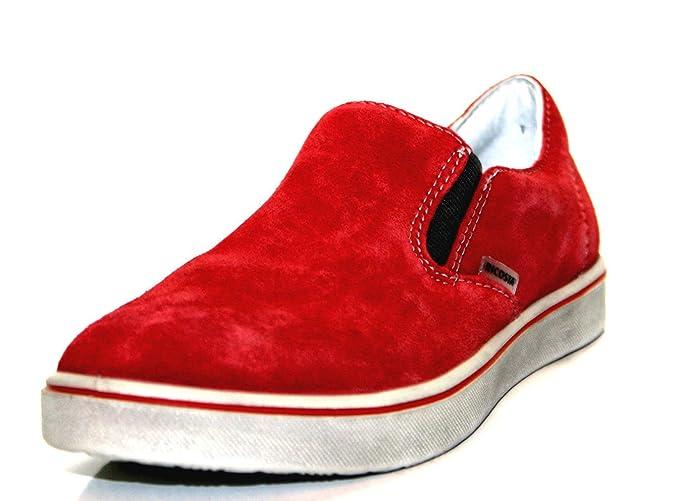 Ricosta 5428300 093 Boys Slip On Medium Red UK 1 without Box B00M9BUNUU