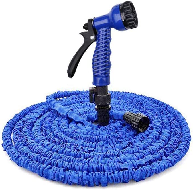 DMONE Garden Hose, 100ft Expandable Water Hose with 7 Function Spray Nozzle, Flexible Expanding Hose with 3/4