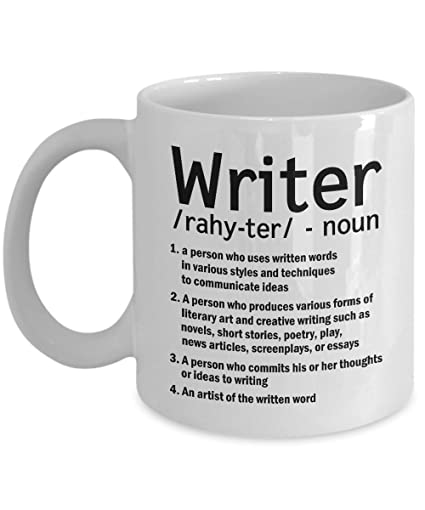 Funny Writer Coffee Mug Noun Inspirational Gifts For Writers Journalist Or