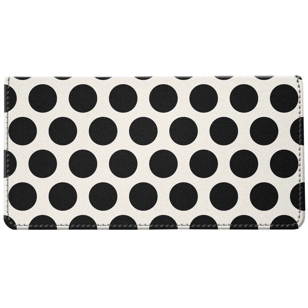 Snaptotes Black Polka Dot Design Style Checkbook Cover One Size