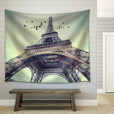 Beautiful Expert Craftsmanship, Window to Paris Architecture of Paris France Europe Fabric Wall, Premium Product