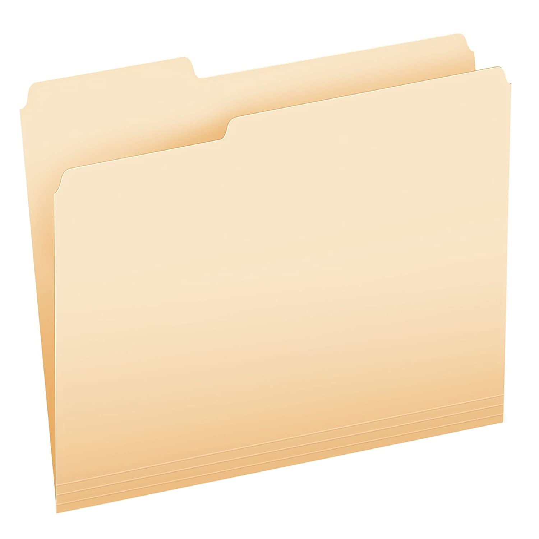 Pendaflex Essentials File Folders, Letter Size, 1/3 Cut, Manila, 250 per Box (752250) Esselte Corporation