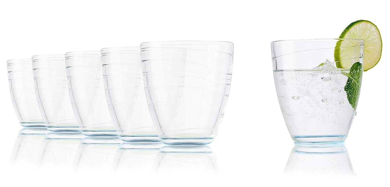 Vasos de agua Tivoli Sofia - 280 ml - Set de 6 - Vasos de alta calidad - Apto para lavavajillas - Vasos de cristal