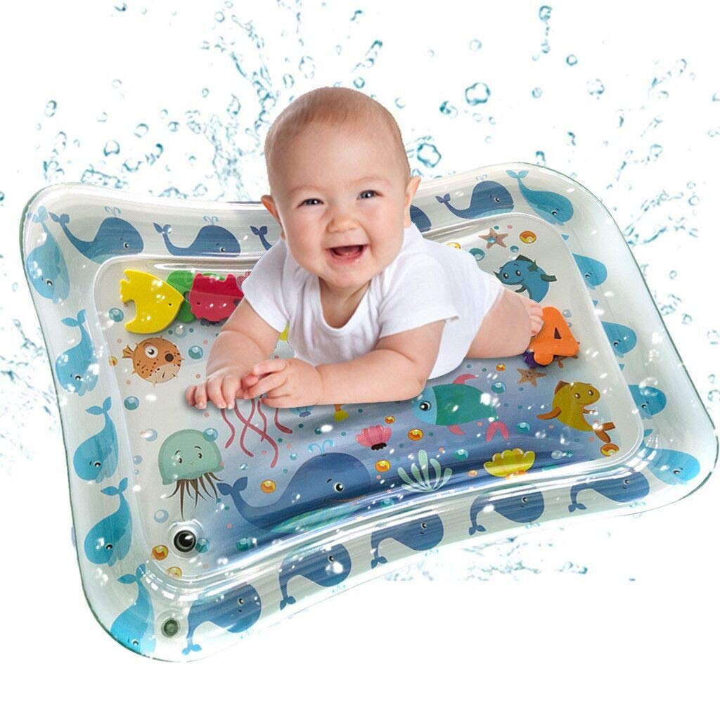 WONdere Inflatable Baby Water Mat Fun Activity Play Center for Children & Infants (D)