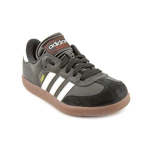 Adidas Boy s Samba Classic Soccer Shoe Black White 2.5  Buy Online ... 0e4a71929