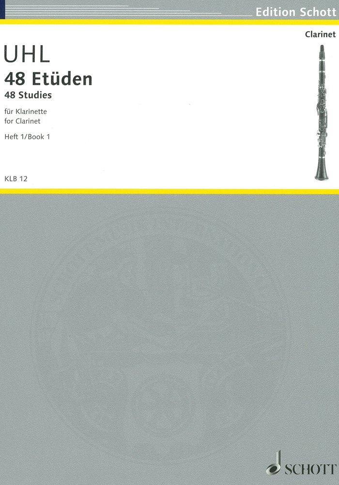 48 Études 1 Clarinette (Allemand) Partition – 1 janvier 2000 Alfred Uhl Schott B00006M2YG KLB12