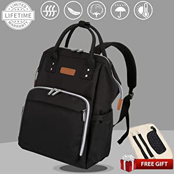 3526dae3f62f Diaper Bag- RUOXIN Home Waterproof Color Changing Bag with Changing Mat  Insulated Pockets   Stroller