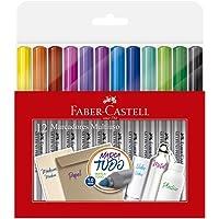 Marcador Permanente, Faber-Castell, MULTI/ES1ZF, 1.0mm, 12 Cores