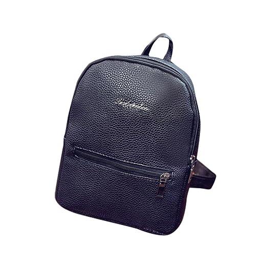ddee445db1e Sumen Girls Leather School Bag Travel Backpack Mini Satchel Shoulder  Rucksack for Women
