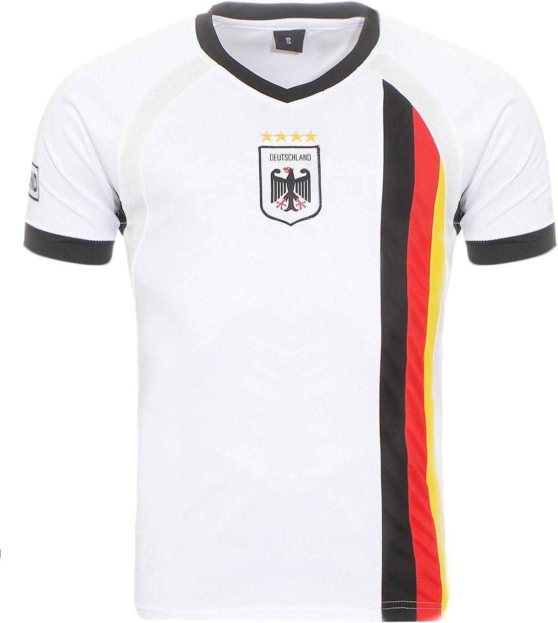 Camiseta de fútbol de Alemania del Mundial de Matyfashion, colección para hombres y mujeres en color blanco 5, Hombre, Blanco, medium: Amazon.es: Deportes y aire libre