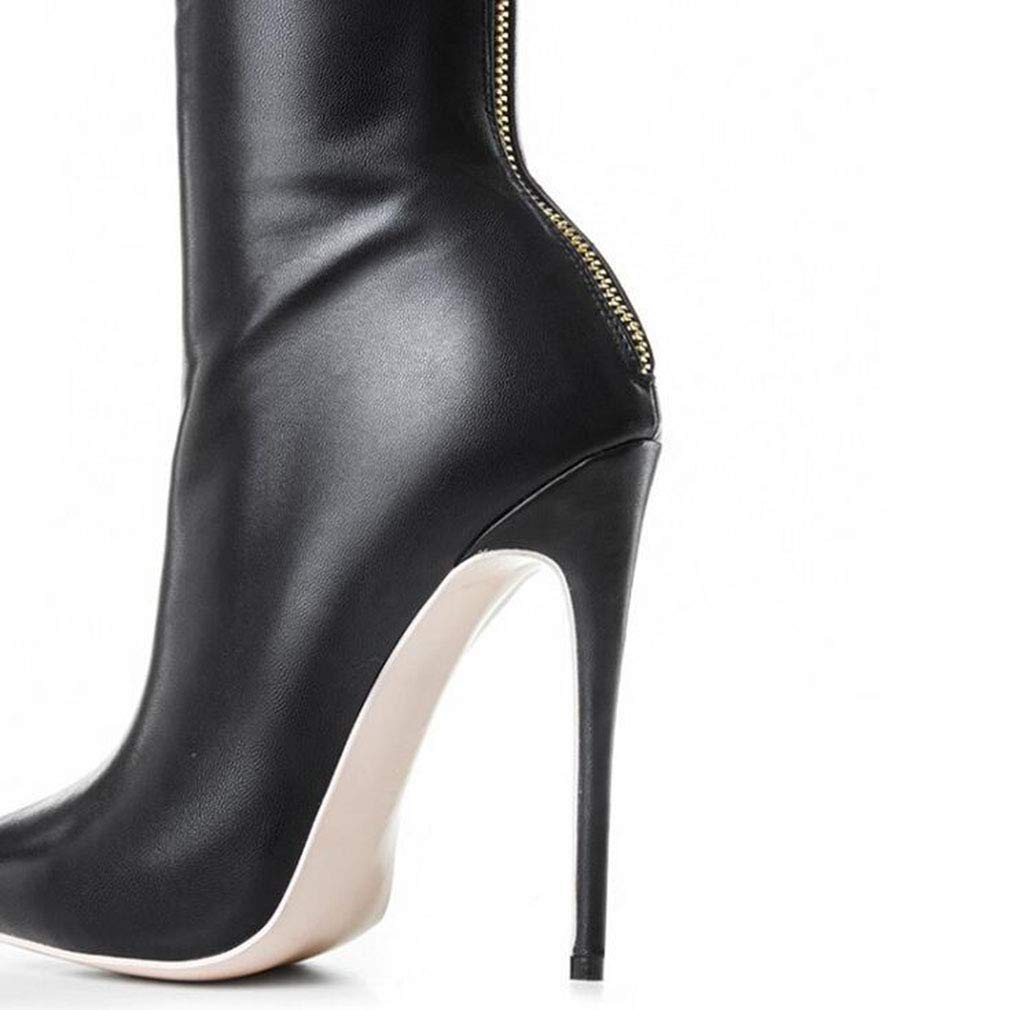 Color : Black, Size : 44 Hy Womens Fashion Boots,Fall /& Winte Artificial PU Pointed Stiletto Heel High Boots Ladies Knight Boots,Over-Knee Long Boots Office /& Career Party /& Evening