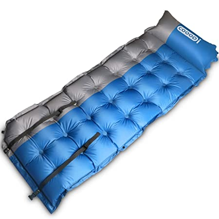 COOODI Self-Inflating Camping Pads, Camp Pad Mat Mattress, Inflatable Sleeping Mat with Pillow for Camping, Backpacking, Tents, Traveling, Hiking