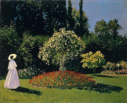 50- 4000 Hand Painted Art Paintings by College Teachers – Claude Monet Jeanne-Marguerite Lecadre in The Garden Oil Painting Reproduction for Wall Decor Canvas Old Famous -Size18