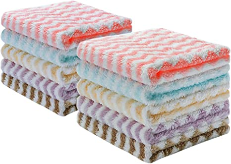 Elitebond Kitchen Towels And Dishcloths Sets Dish Clothes For Washing Dishes Washcloths Rags For Drying Microfiber Cleaning Cloth 12 X 12 10 Set Home Kitchen
