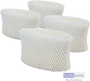 PUREBURG 4-Pack Wick Filters for Kaz Vicks WF2 fits Vicks V3100 V3500N V3500 V3700 V3800 V3900 Series Kaz 3020 Sunbeam 1118 Series Honeywell HCM-350 HCM-630 HCM-300T Relion WA-8D Enviracaire ECM-500