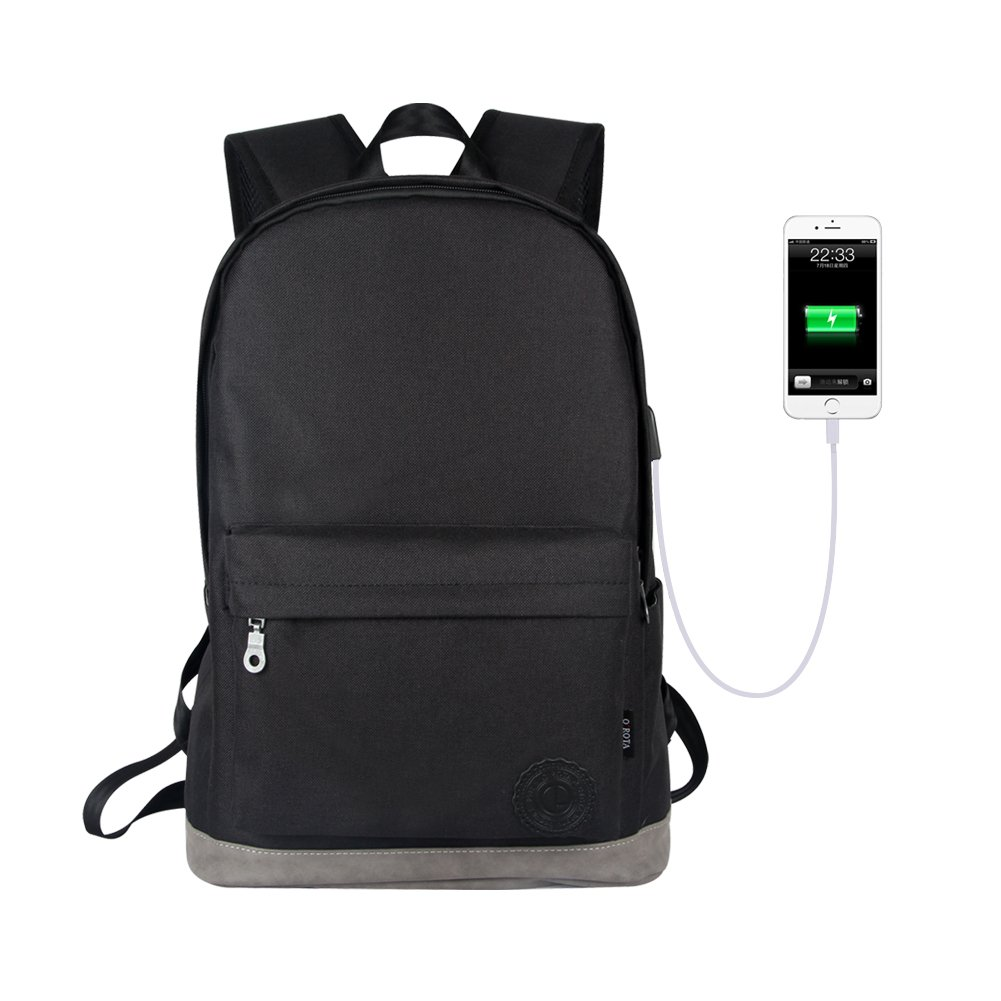 Orota Anti Theft backpack College Backpack with USB Charging PortSchool Bookbag Laptop Backpack (black) durable service