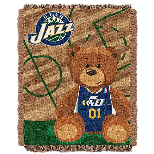 The Northwest Company Officially Licensed NBA Utah Jazz Half Court Woven Jacquard Baby Throw Blanket, 36