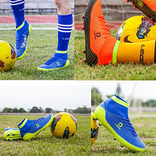 VITIKE Men's Soccer Shoes/Boy Football Shoes High Ankle Football Boots Training Shoes Orange NxZDDq6yH