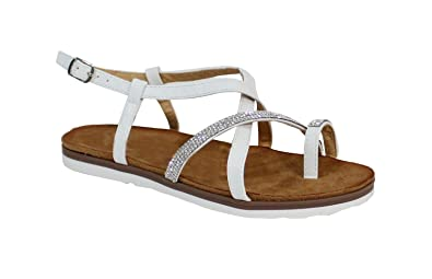 By Plate White Shoes Sandale Brillant Taille 41 Style Femme UzVpqGSM