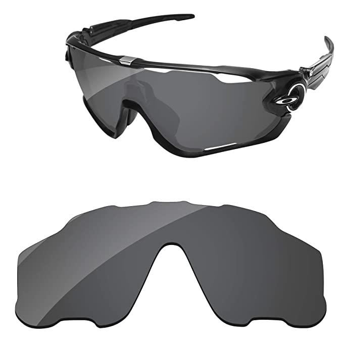 116754a4f0 PapaViva Replacement Lenses for Oakley Jawbreaker Black Grey  Amazon ...