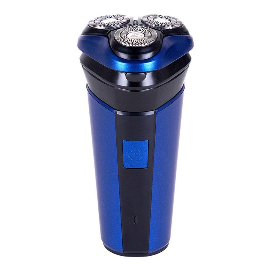 RSCF-8310 MäNner Elektrisch Schwimmende Drei-Kopf-Rasierer GanzköRperwasser Waschen Wiederaufladbare Sichere Und Bequeme Blau