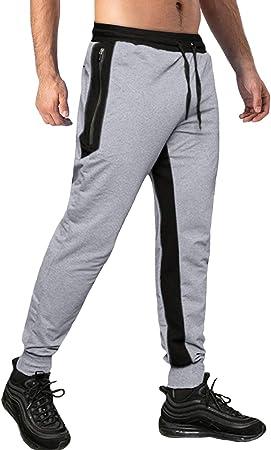 TACVASEN - Pantalones de chándal para hombre, de algodón ...