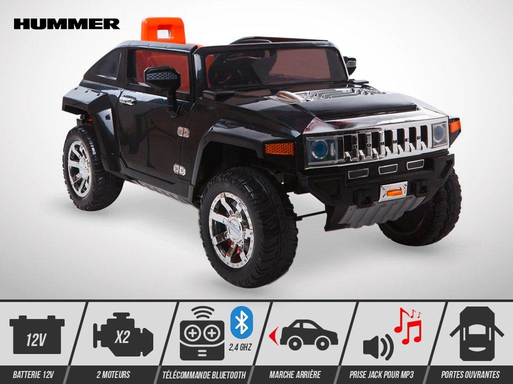 Kingtoys - Elektroauto für Kinder - Hummer HX 14 W - Schwarz ...   12v hummer
