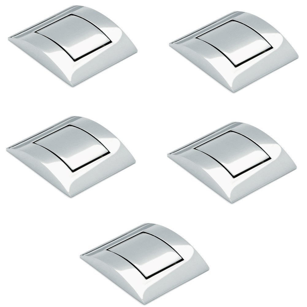 (5 Pieces) Viborg Top Quality Zinc Alloy Modern Kitchen Cabinet Cupboard Door Handles Drawer Pulls Handle Knobs SA-742 (43 x 45 x 8 mm)