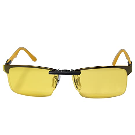 f70007582e Custom Polarized Clip on Sunglasses For Ray-Ban RB8411 RX8411 Yellow-Night  Vision - - Amazon.com