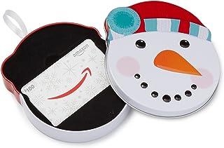 Gift Card in a Snowman Tin