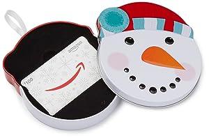 Amazon.com Gift Card in a Snowman Tin