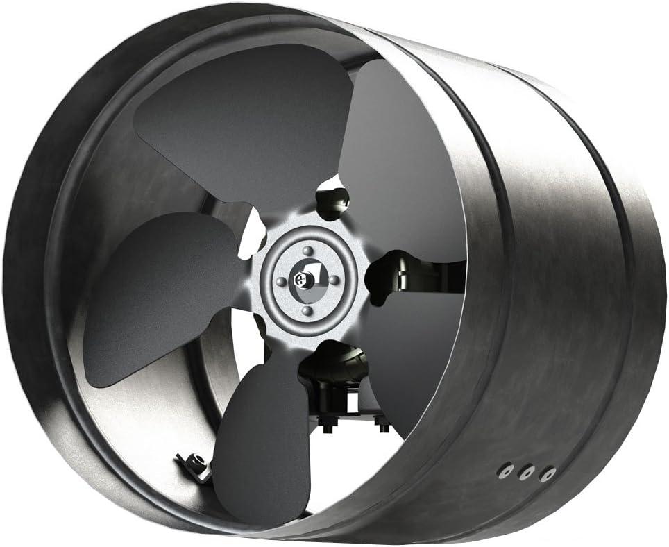 Conducto Inline 315mm fan de zinc de metal chapado en ARW la canalización extractor industrial