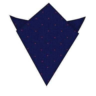 Pochette De Costume Bleu Marine Avec Pois Rouges Garantie