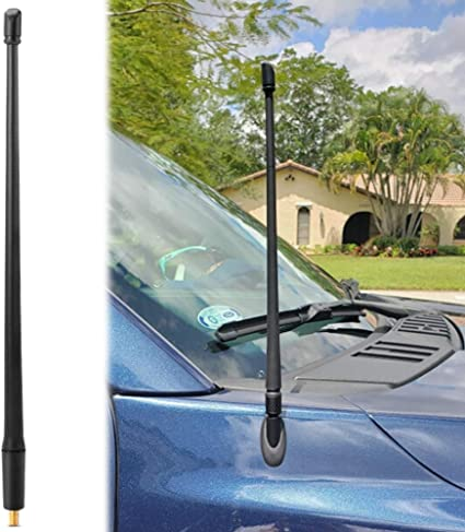 Anti-Theft Design Short Replacement Antenna 1997 Current 6 3//4 Inches Antenna for Dodge RAM /& for Ford F150 F250 F350 Super Duty Ford Raptor Trucks