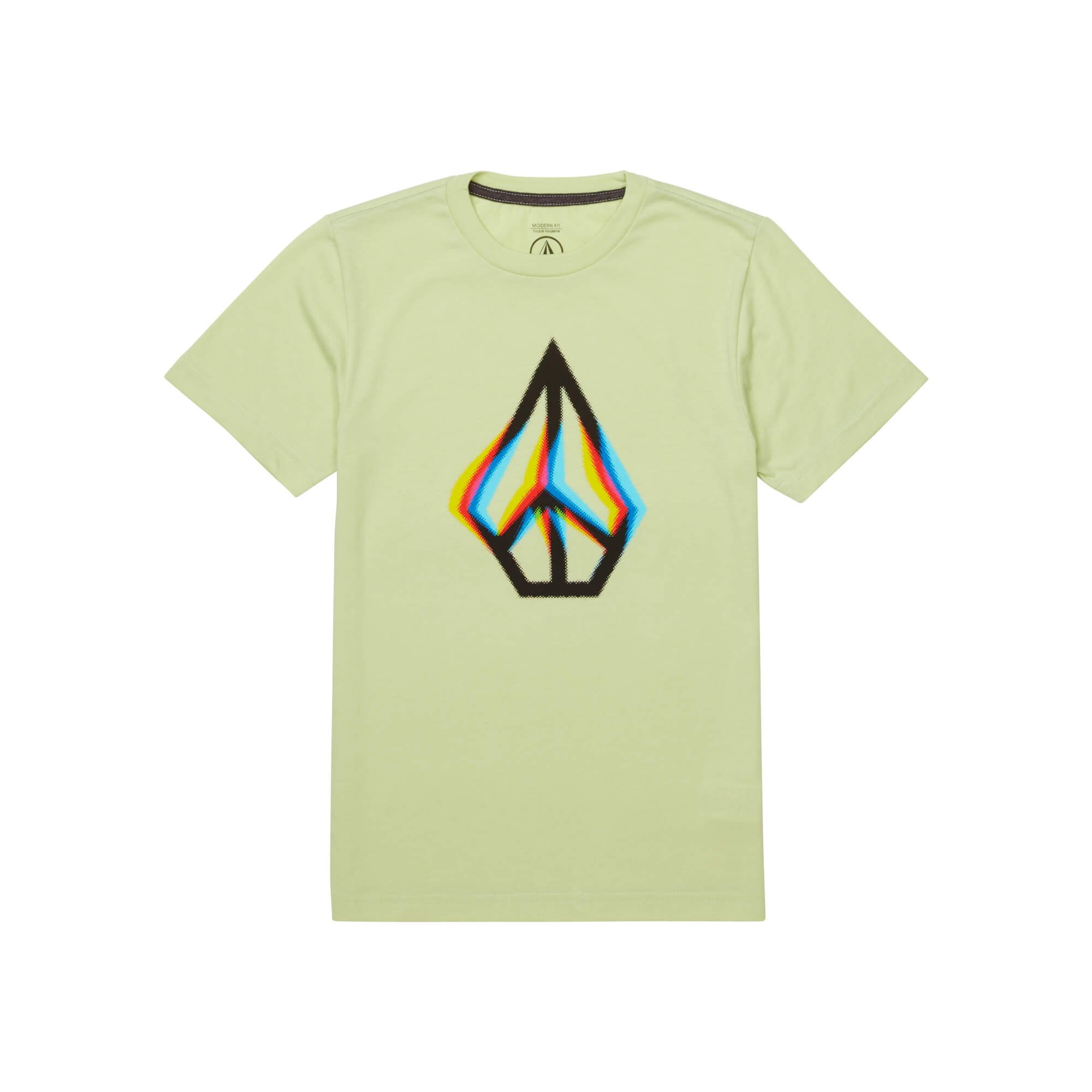 Volcom Big Boys' Peace Blur Short Sleeve Tee, Mist Green, S