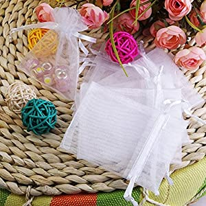 Amazoncom 3x4 White Organza Wedding Party Favor Bags Package of