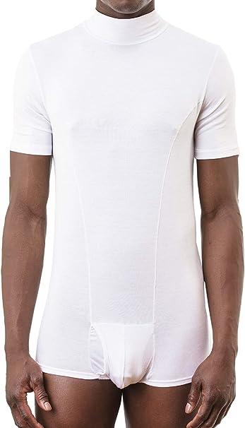 KEFALI Cologne - Camiseta interior - Básico - cuello mao - Manga corta - para hombre Weiß Medium: Amazon.es: Ropa y accesorios