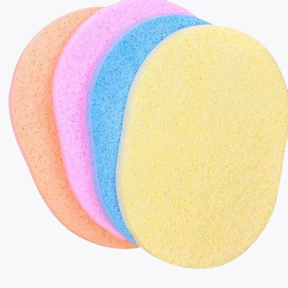 Asentechuk® 10pcs Naturel Algues Houppette Nettoyant éponge laver le visage Maquillage Outil (couleur aléatoire) AsentechUK®
