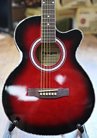 Paragon J002CE Guitarra Electroacústica rojo Sunburst