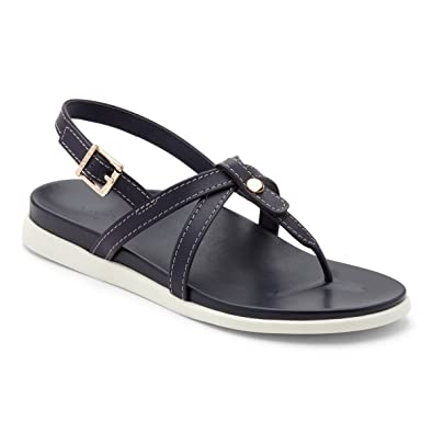 VIONIC Zehensteg Sandale Catalina Black Gr. 36-43, Größen EU:36
