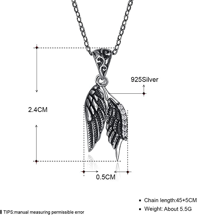 Necklaces Jewelry greencashflow.ch YJEdward Vintage Feather Wings ...