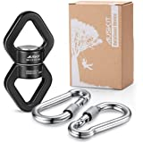 AusKit Swing Swivel, 30 KN Safest Rotational Device Hanging Accessory with Carabiners for Web Tree Swing, Swing Setting…