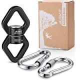 AusKit Swing Swivel, 30 KN Safest Rotational Device Hanging Accessory with Carabiners for Web Tree Swing, Therapy Swing…