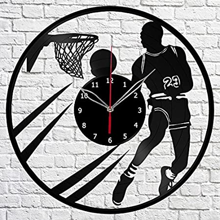 Baloncesto Deporte Reloj de pared de disco de vinilo Fan Art hecha ...
