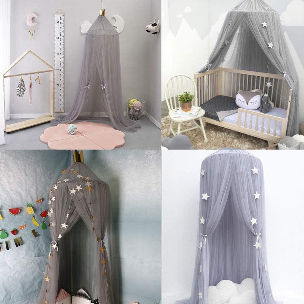 Moustiquaire Baldaquin pour Lits R/épulsif pour les Insectes B/éb/é Filles Princesse Jouer Tente Chambre D/écoration