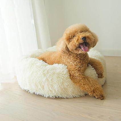 DMMASH Cama Redonda para Perros Y Gatos, Cómoda para Mejorar Cama para Perros Extraíble Y