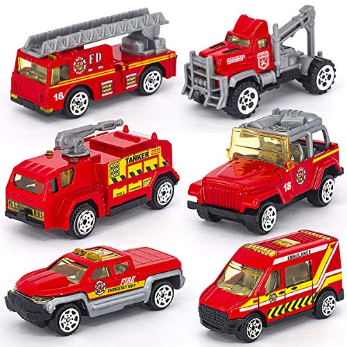 Linkaye Construction Toys Sets 6 Pieces Mini Die-cast for sale  Delivered anywhere in USA